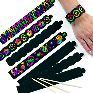 Assorted 12 Pack Pack of 12 for Kids to Decorate Arts and Crafts 15cm Baker Ross EV599 Scratch Crosses