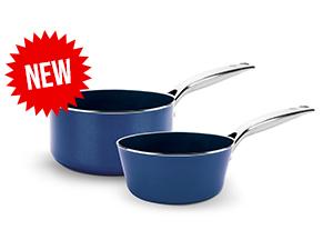 Bleu Diamond, cookware, set, saucepan, nonstick