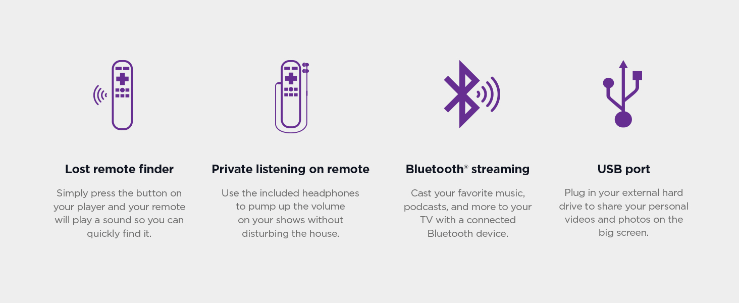 Newest Roku Ultra 2020 Lost remote finder, private listening, Bluetooth streaming, USB port
