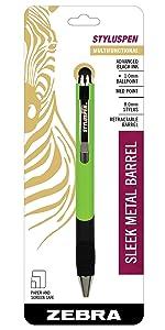 screen and paper friendly pens, stylus pen retractable ballpoint pen, zebra multifunction pens