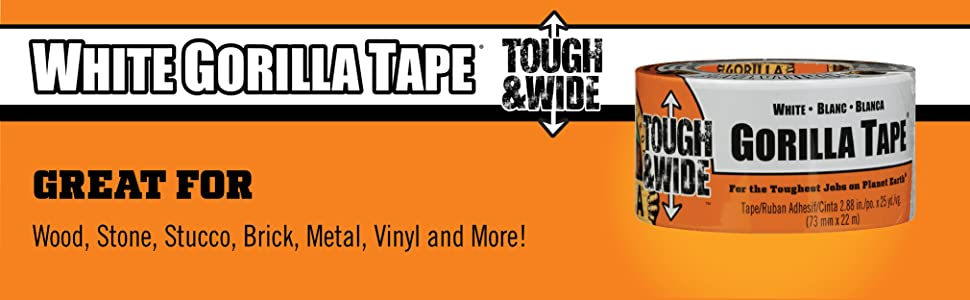 Gorilla Tape White Tough and Wide Duct Tape 25yd