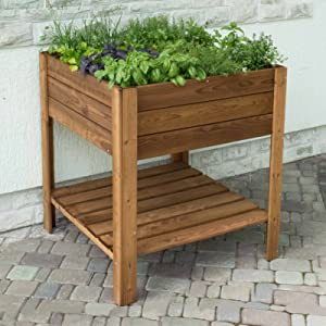 Gardiun KSU13010 - Huerto Urbano madera tratada 80*40*88 cm ...