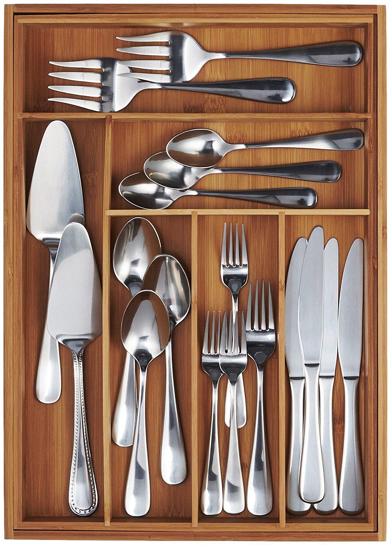 Amazon.com: AmazonBasics Bamboo Expandable Kitchen