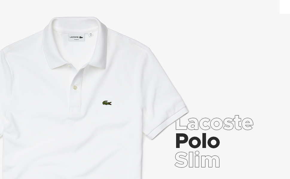Lacoste slim fit short sleeved polo shirt
