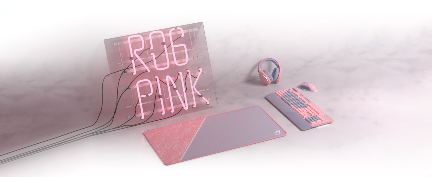 ROG Strix Flare PNK LTD RGB mechanical gaming keyboard with Cherry MX switches, customizable illum