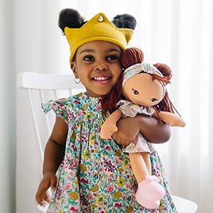 baby gund baby dolls toddler girls blonde brunette soft safe play stuffed animal stuffie
