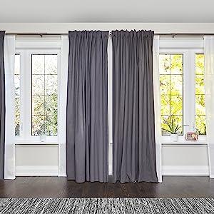 double curtain rod, curtain rod, double curtain rod bronze, double curtain rod nickel