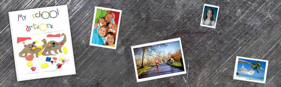 photo pockets, magnetic picture frame