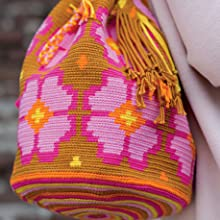 flower bag,floral,crochet,wayuu,mochilla,colourful,crocheted,handmade