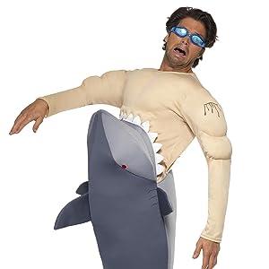 Smiffys - Disfraz de tiburón para hombre, tamaño universal ...