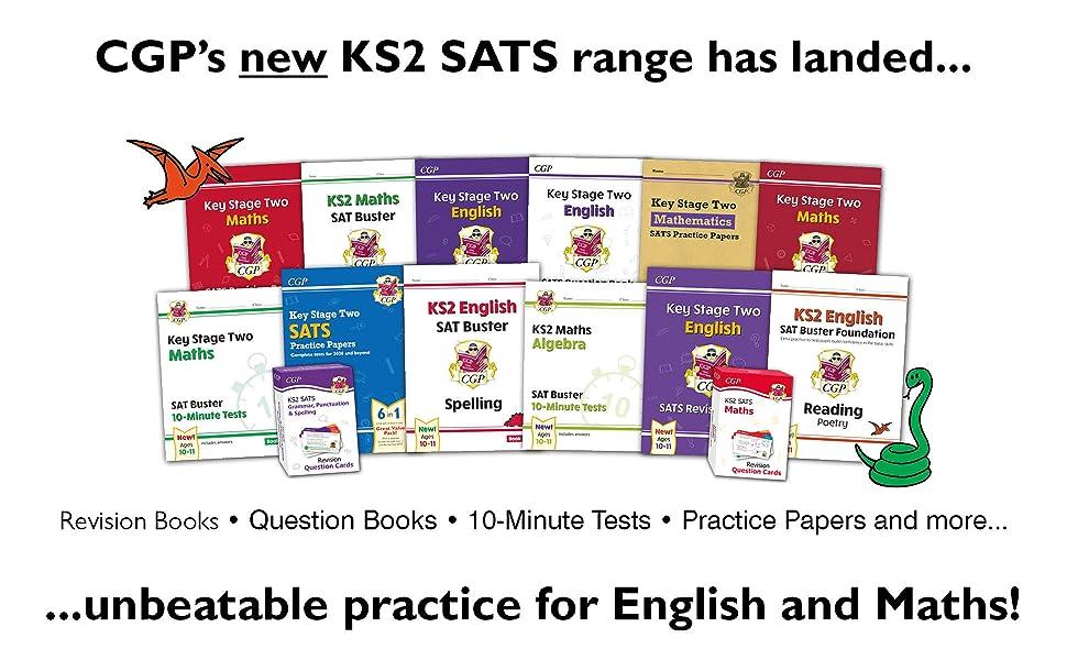 CGP's brilliant new KS2 English and Maths SATS range has landed!