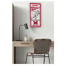 Miami of Ohio Redhawks Vintage Player Sign
