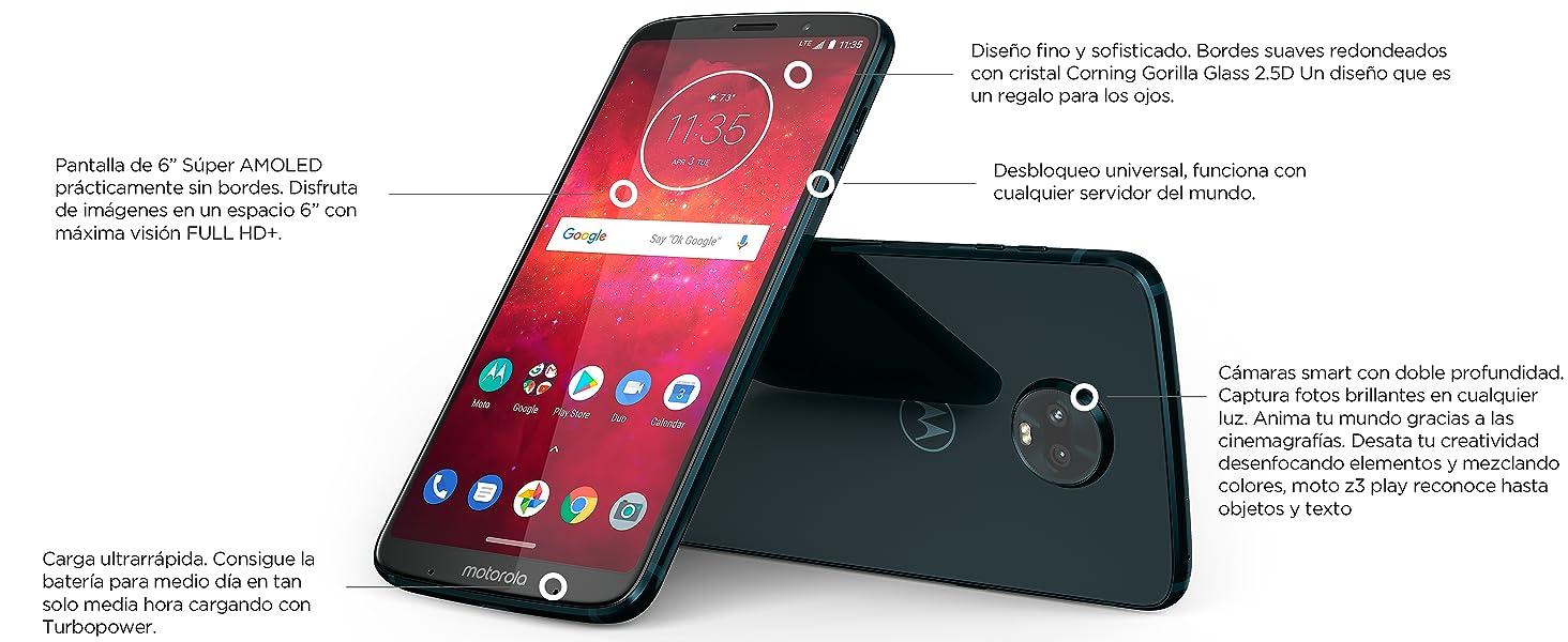 Motorola Z3 Play + Moto Mod Bateria: Motorola: Amazon.es: Electrónica