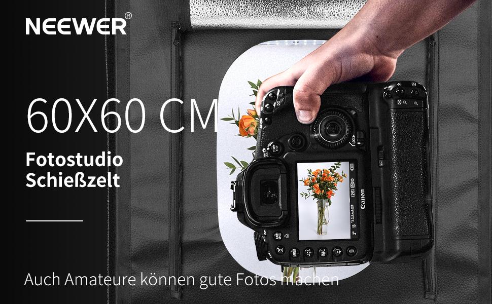 Neewer Fotostudio Licht Box 24 Zoll Kamera
