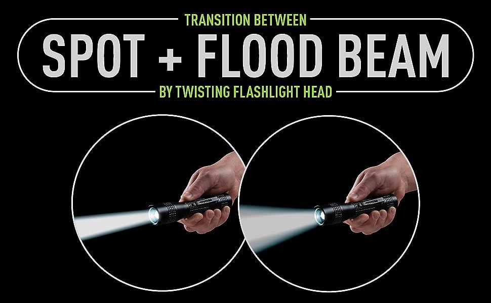 focusing beam, spot light, flood light