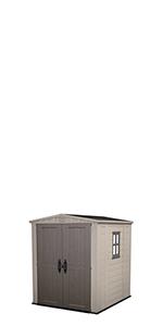 Keter Factor 6x3 Caseta de jardín exterior con escuadra incluida, Marrón Y Beige: Amazon.es: Jardín