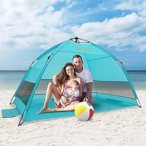 Alvantor Beach Tent Umbrella Outdoor Sun Shelter Cabana Automatic Pop Up