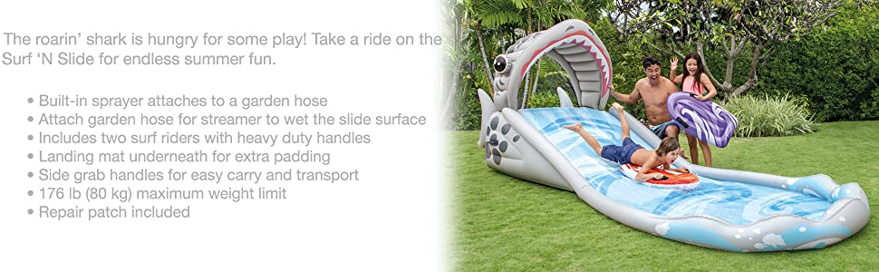 Amazon.com: Intex Surf N Slide Inflatable Play Center, 181 ...