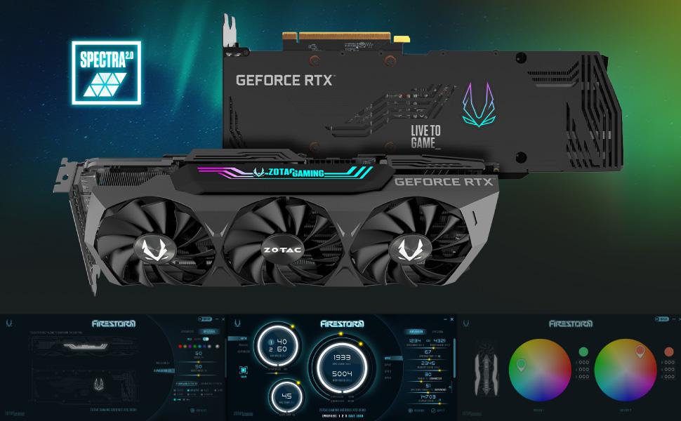 ZOTAC GAMING GeForce RTX 3080 Trinity (OC) Graphics Card ZT-A30800D-10P ZT-A30800J-10P NVIDIA Ampere