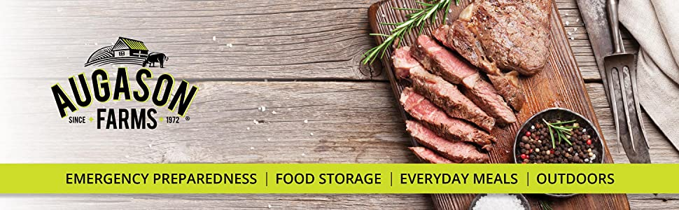 Augason Farms Animal Protein Meat Emergency Survival Food Storage Outdoors Meals