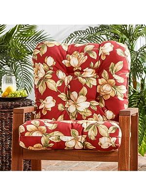 plush outdoor chair cushion