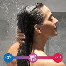shower faucet temperature