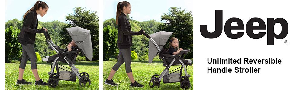 jeep stroller reversible handle grow with me baby forward facing parent facing