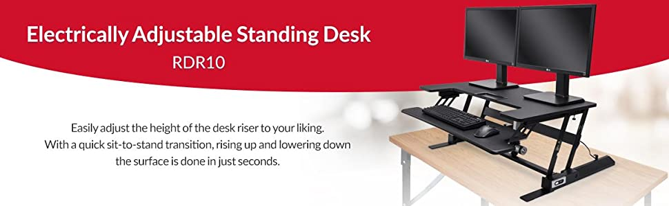 Rosewill Height Adjustable Sit/Stand Desk Computer Riser RDR10