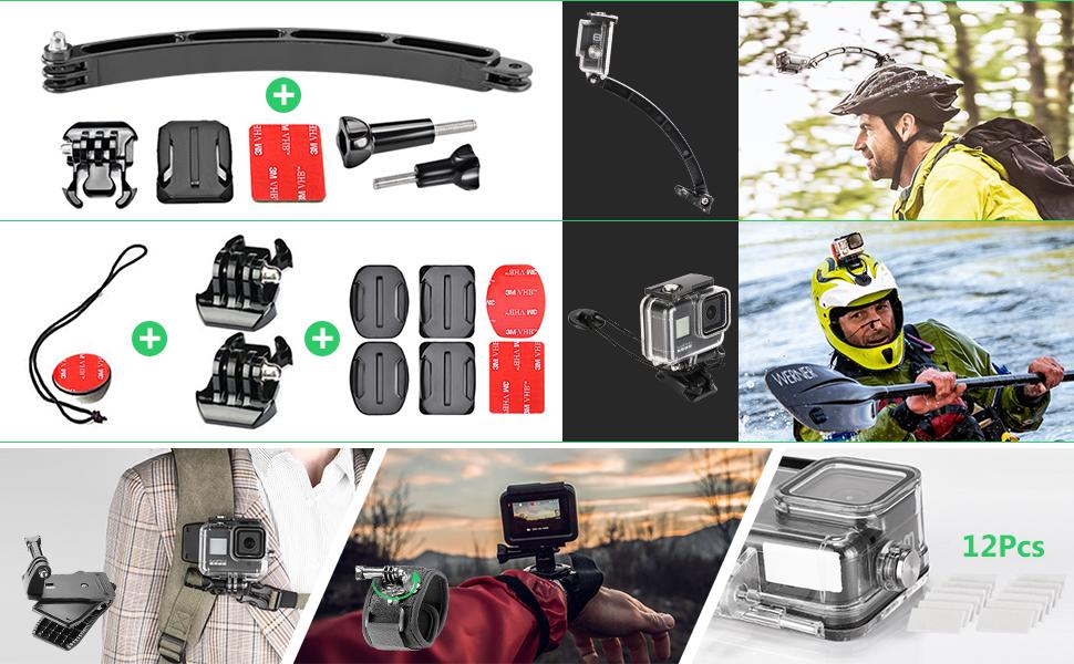 películas templado LCD 6 capas de reemplazo para GoPro Hero 4//5 sesión 4 un