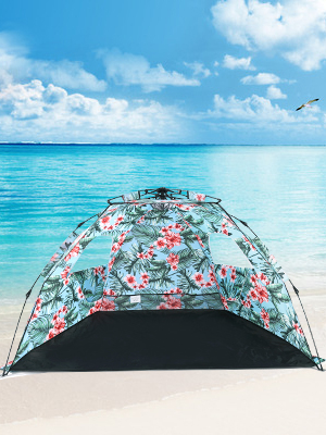 MallBoon Pop Up Beach Tent Sun Shelter,Protable 3-4 Person Sun Shade with Easy Setup and Sun Protection for Kids,Family