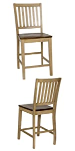 barstool,arm stool,bar stools,stools with arms,mission,modern,set of 2,barstools for heavy people