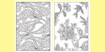 Bliss Adult Coloring, Paisley
