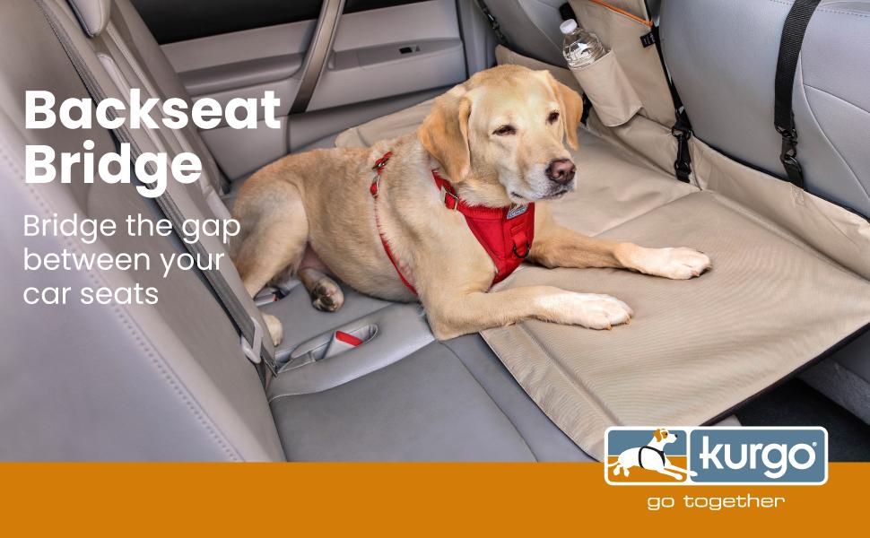 Kurgo dog backseat car bridge barrier