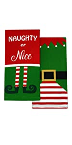 elft naughty or nice elf made me do it kitchen towels