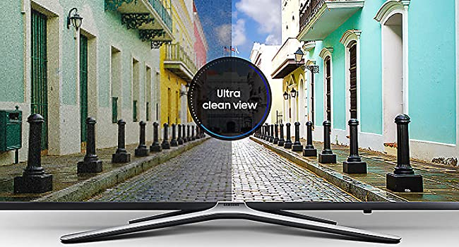 ultra clean view technology with M5520 Full HD smart TV from samsung
