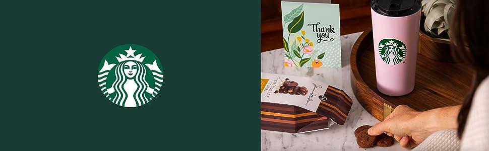 starbucks thank you gift box mug thermos card cookies and ground coffee