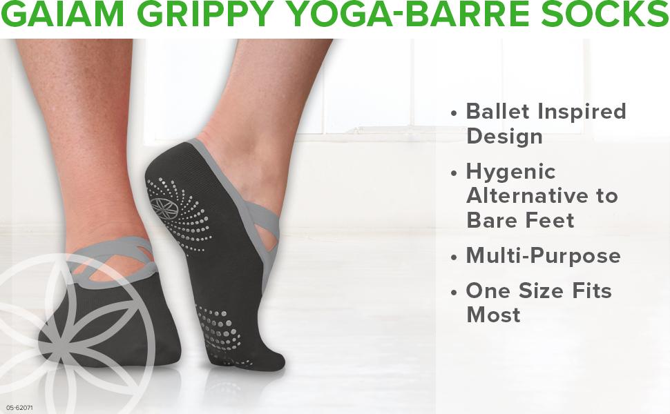 Gaiam Grippy Yoga Barre Socks