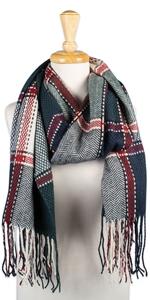 scarf green;green plaid scarf;tartan scarf women;scarf plaid green;womens fashions plaid scarf