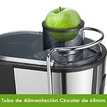 Licuadoras Para Verduras y Frutas, Aicook 600W Licuadora Con 65MM de Boca Ancha, Extractor de Jugos Acero Inoxidable de Grado Alimenticio Llibre de ...