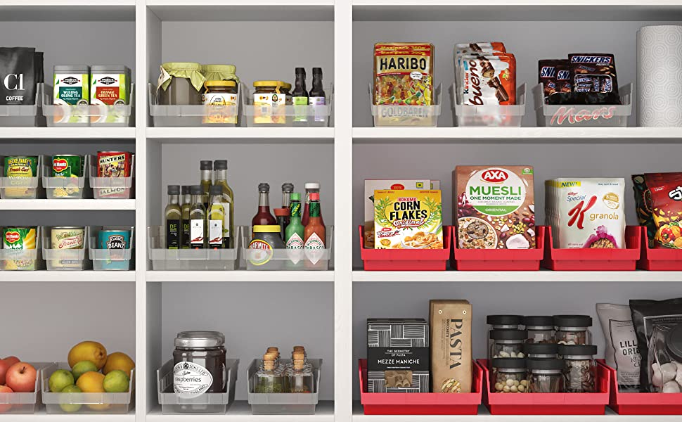 small parts drawer container bins for shelves shelving storage organizing container pantry bin