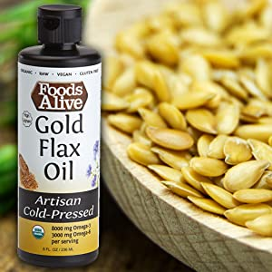 Organic artisan cold-pressed oils, omega rich, flax, hemp, chia, sesame, black, omega power oil blen