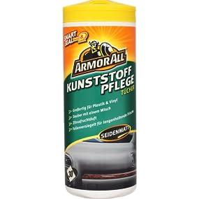 Armor All Kunststoff Pflegetücher seidenmatt 30 Tücher 3er Pack