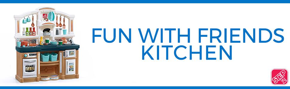 Step2 Fun With Friends Kitchen with blue countertop