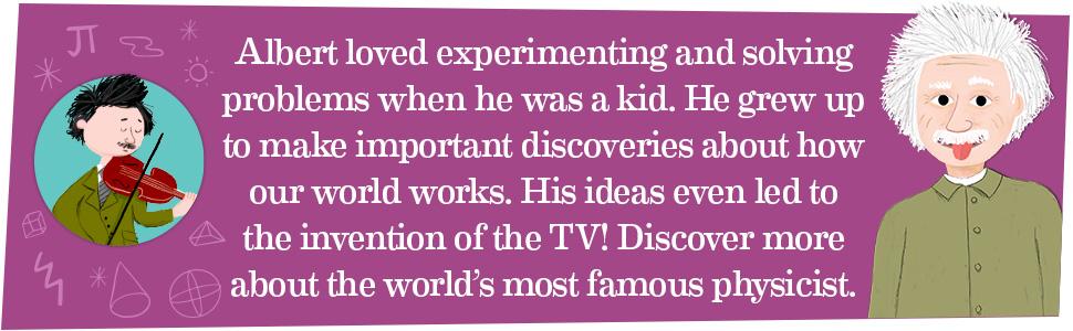 Albert Einstein biography, Albert Einstein for kids, Albert Einstein book
