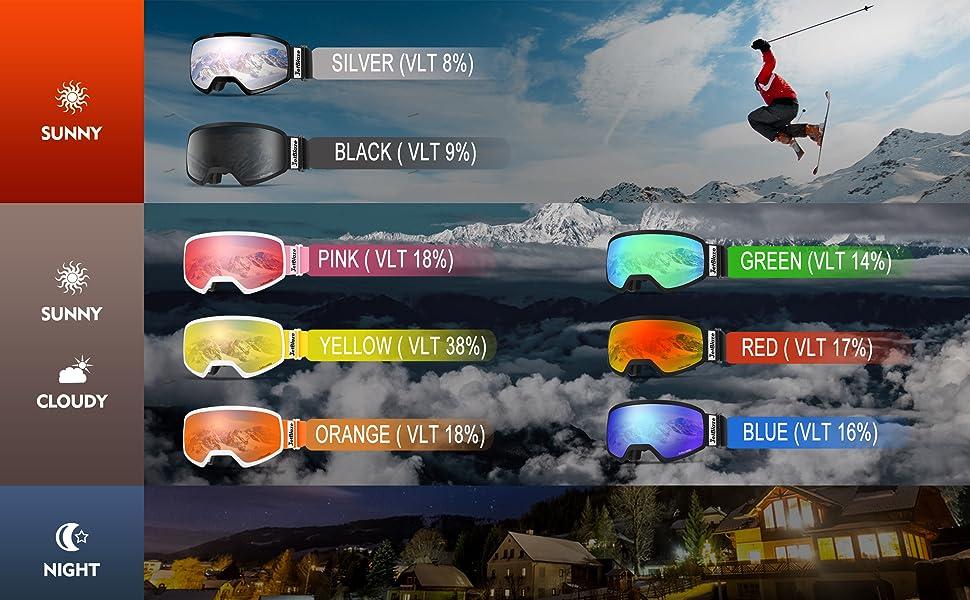 women's ski goggles
