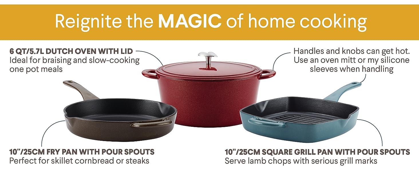 cookware, pots and pans, cast iron pan, cast iron skillet, dutch oven