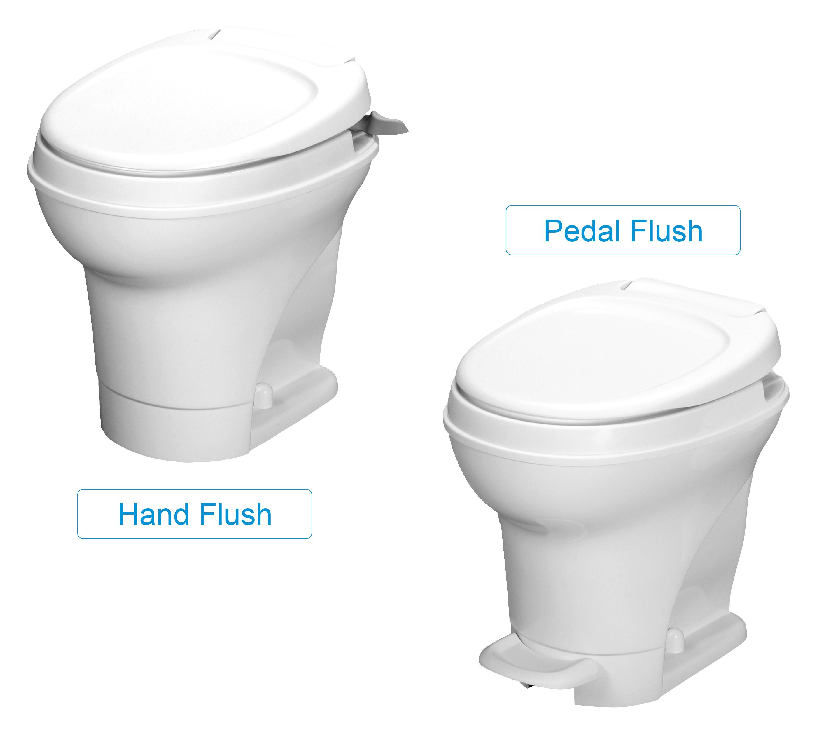 Aqua-Magic V RV Toilet Hand Flush / High Profile / White