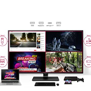 lg monitor, monitor, 4k monitor, 43UN700, gaming monitor, multimedia