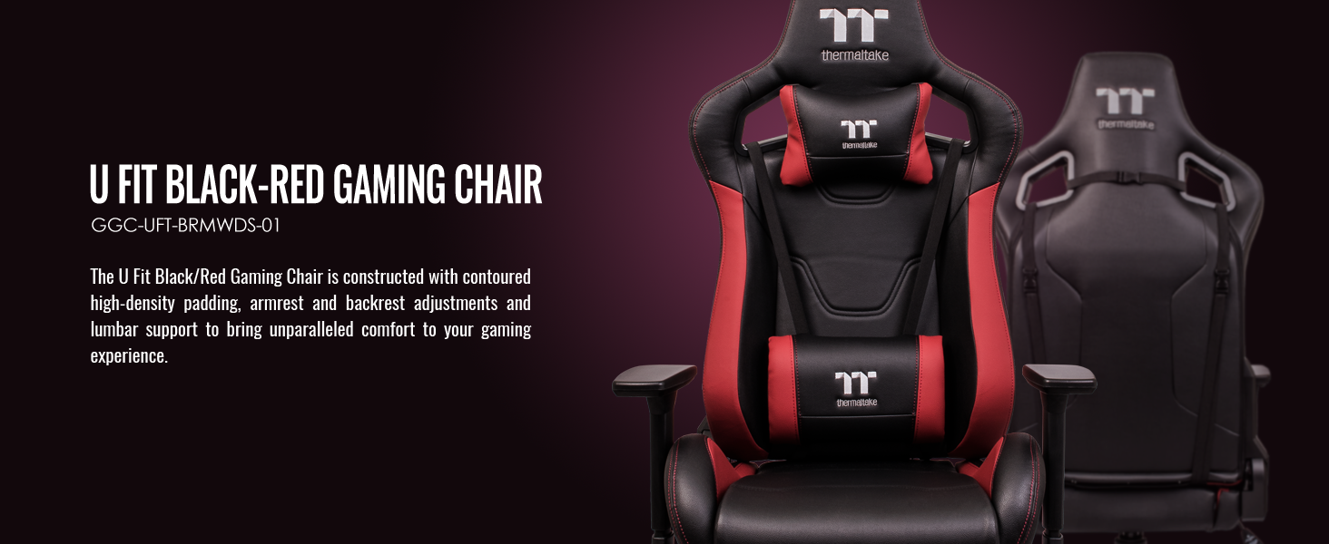 U Fit Black-Red Gaming Chair