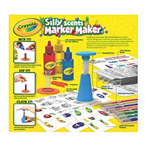Crayola Silly Scents Marker Maker - Back of Package